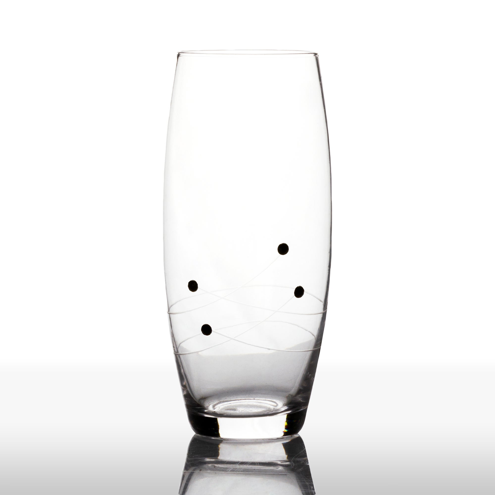 Set of 4 Black Diamante Hiball Glasses