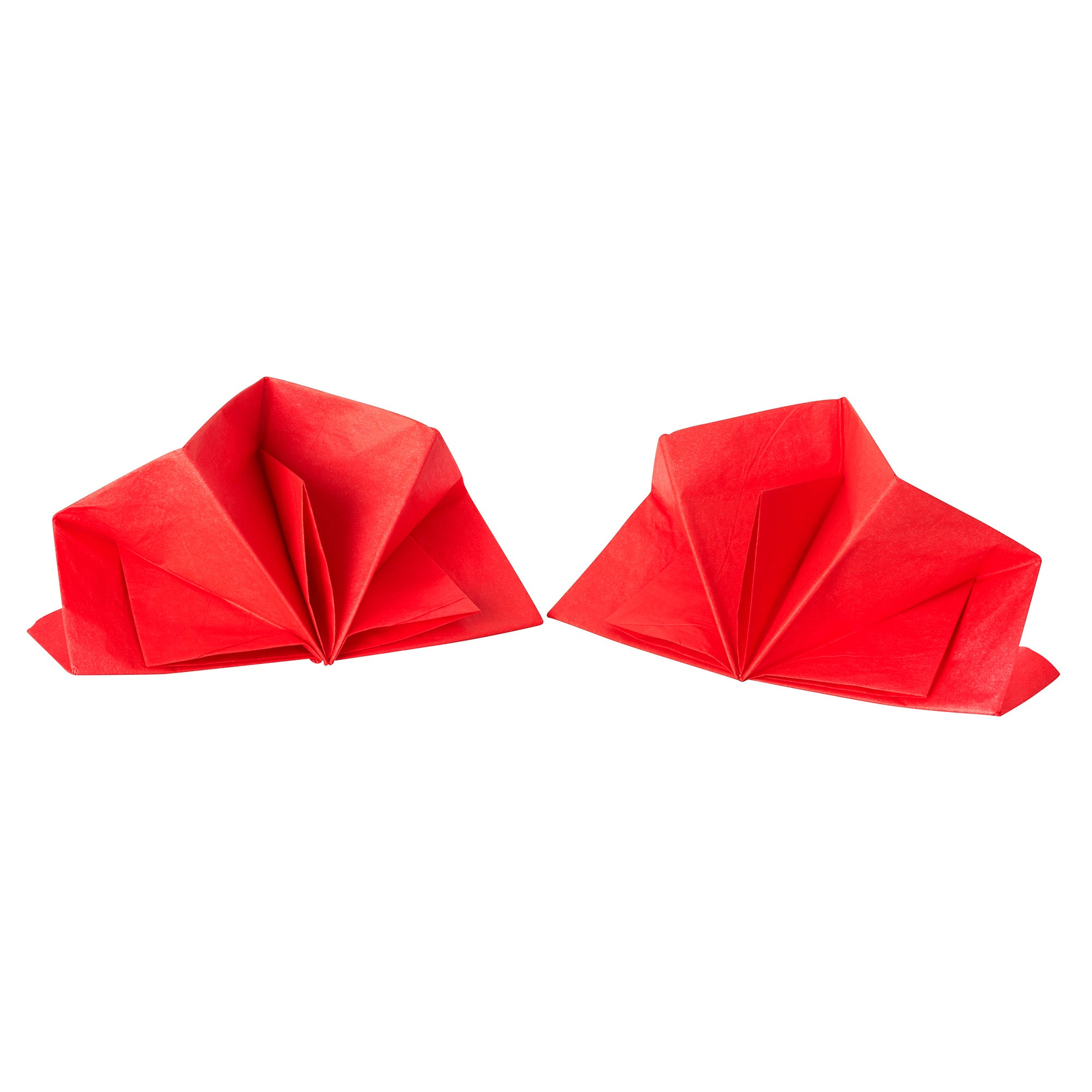 Pack of Red Folded Napkins