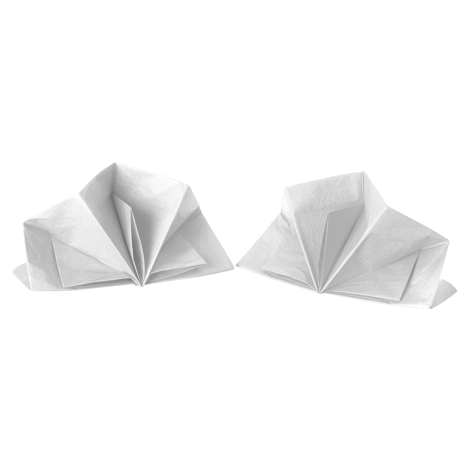 White Folded Napkin
