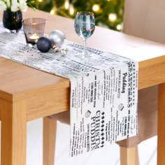 Black Recipe Table Runner
