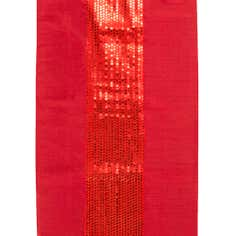 Red Sequin Faux Silk Runner