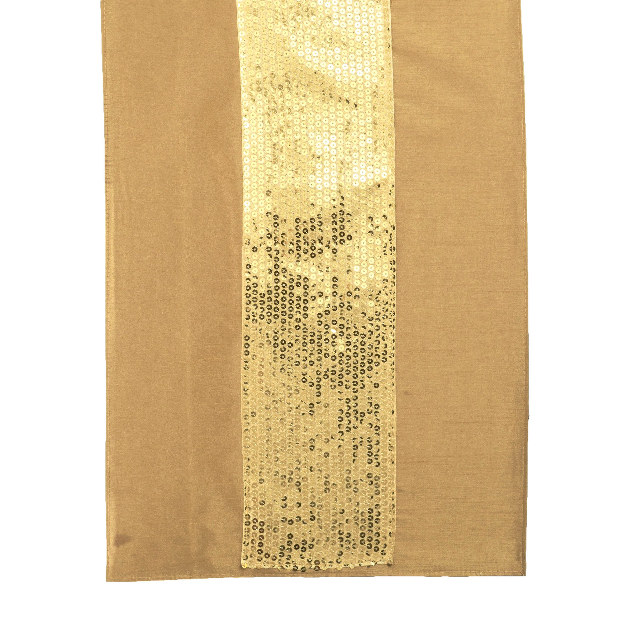 Gold Sequin and Faux Silk Runner