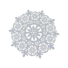 Cut Out Snowflake Felt Table Topper