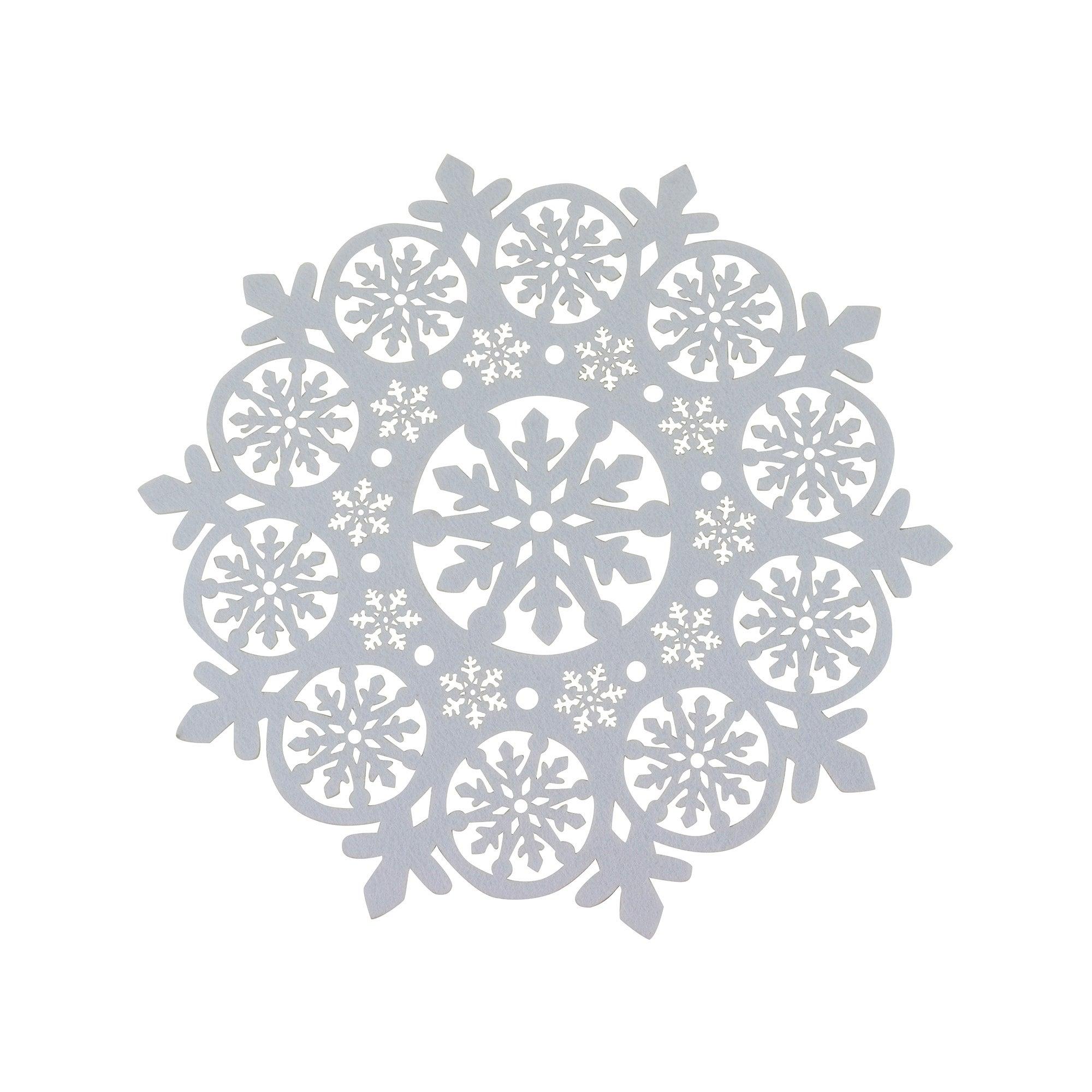 Cut Out Snowflake Felt Table Topper