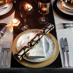 Glitter Gold 12 Piece Dinner Set