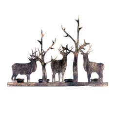 Brown Stag Tealight Holder