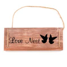 Love Nest Hanging Plaque