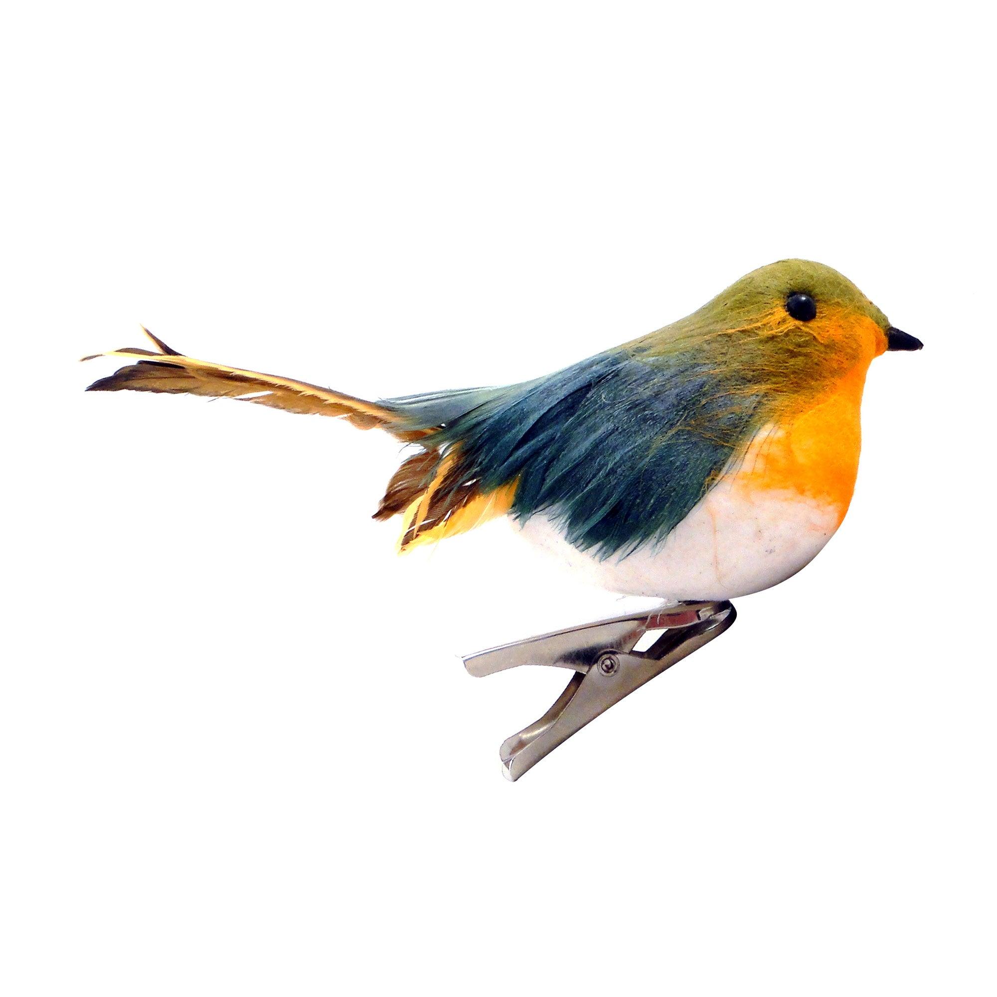 Orange Robin Clip