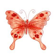 Red Net Butterfly Clip
