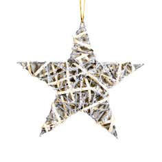 Silver Glittered Willow Star