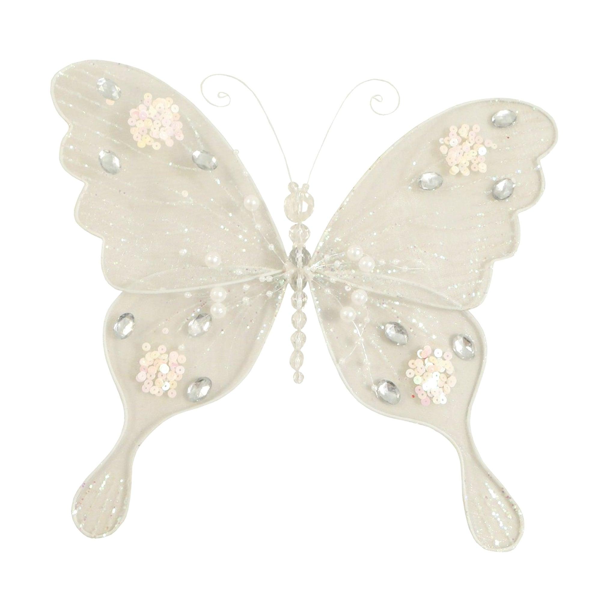 White Net Butterfly Clip