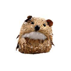 Brown Straw Hedgehog Hanger