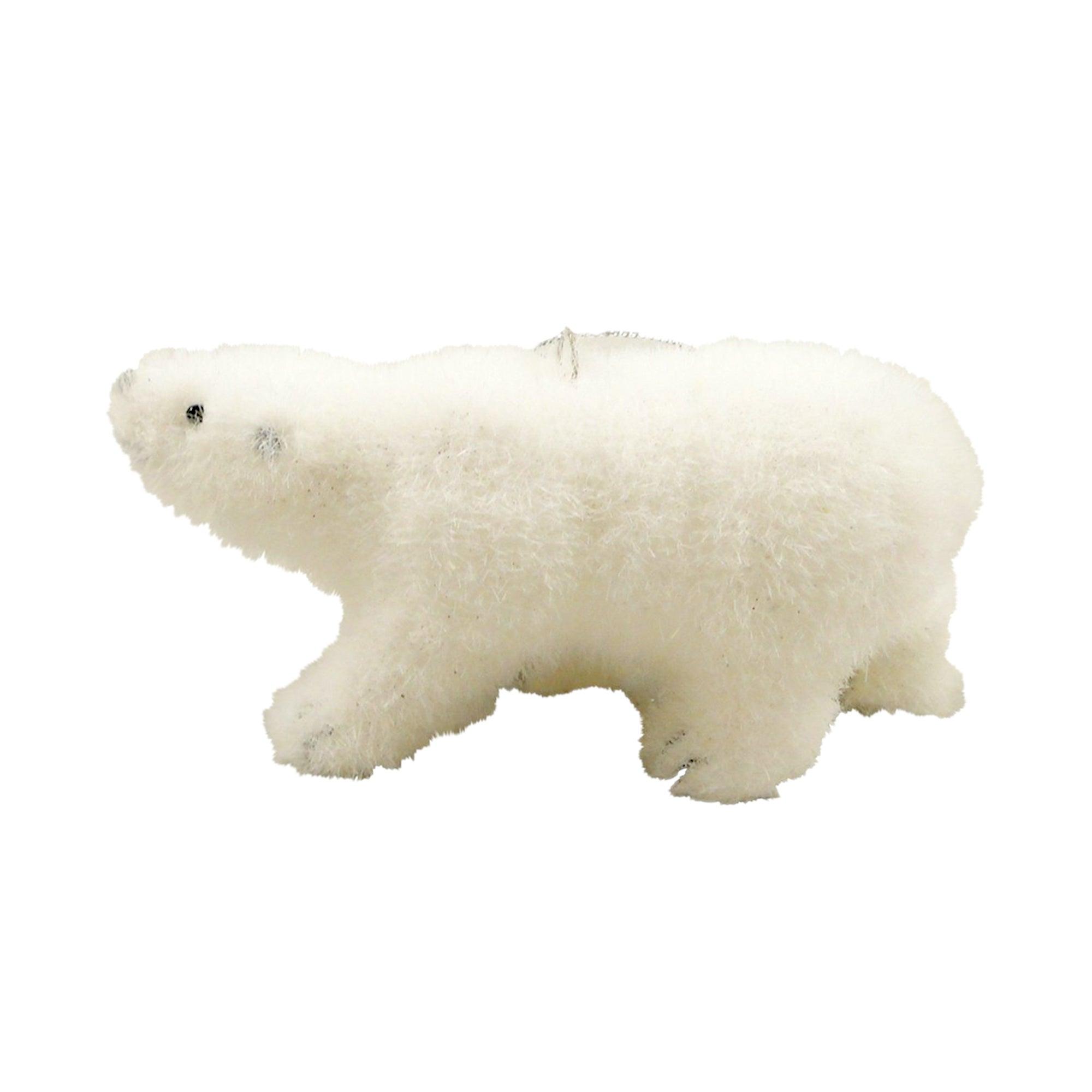 White Flocked Bear Hanger