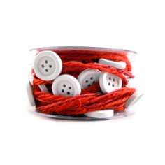 Red Button Garland