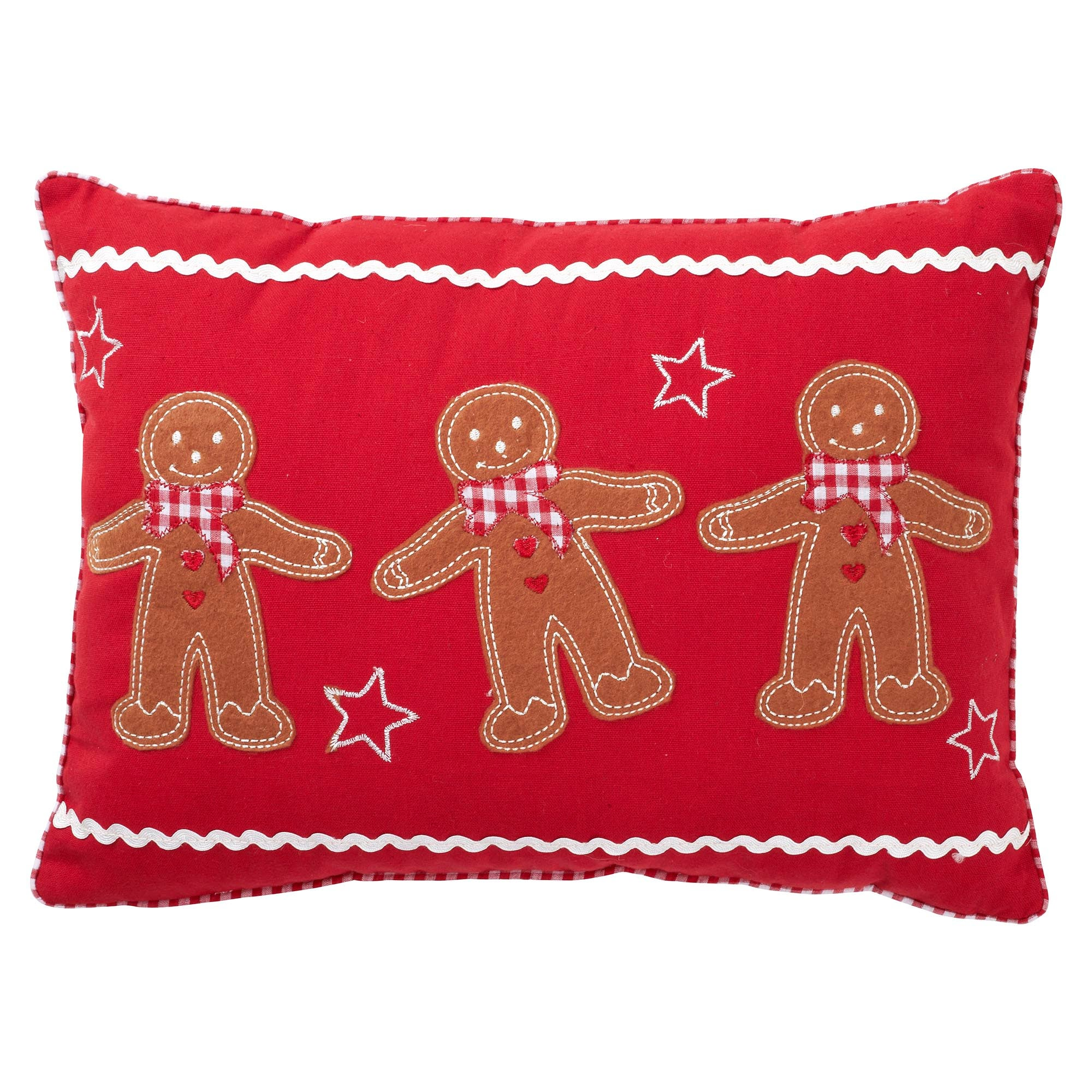 Red Gingerbread Man Cushion