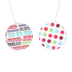 Pack of 10 Merry & Bright Round Gift Tags