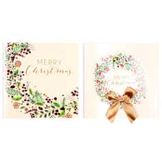 Pack of 10 Traditional Wreath Cards