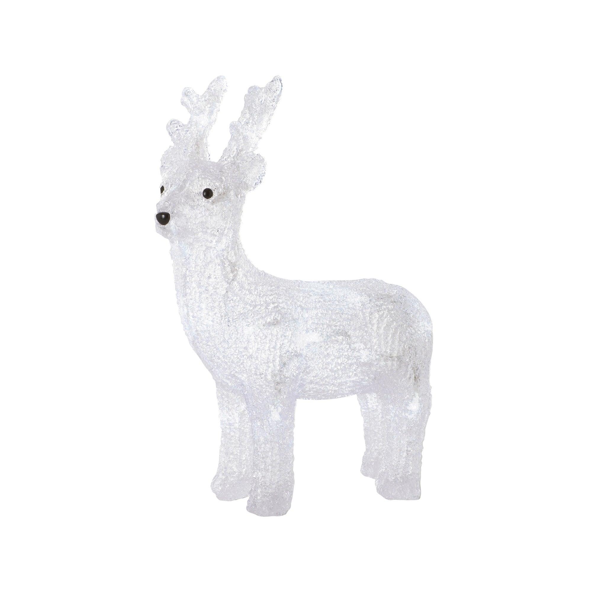 Clear 24 LED Christmas Reindeer