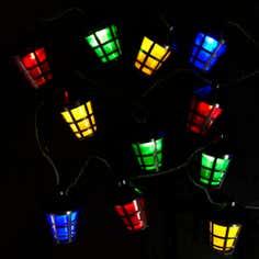 30 Traditional Multi Colour LED Lanterns