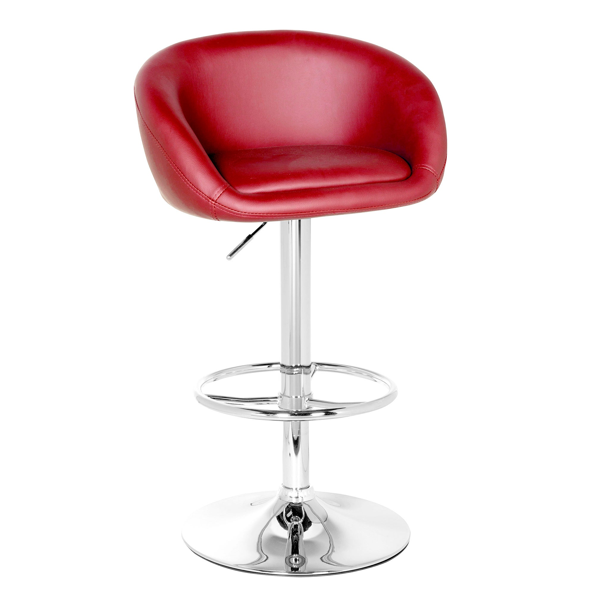 Apollo Bright Upholstered Gas Lift Bar Stool