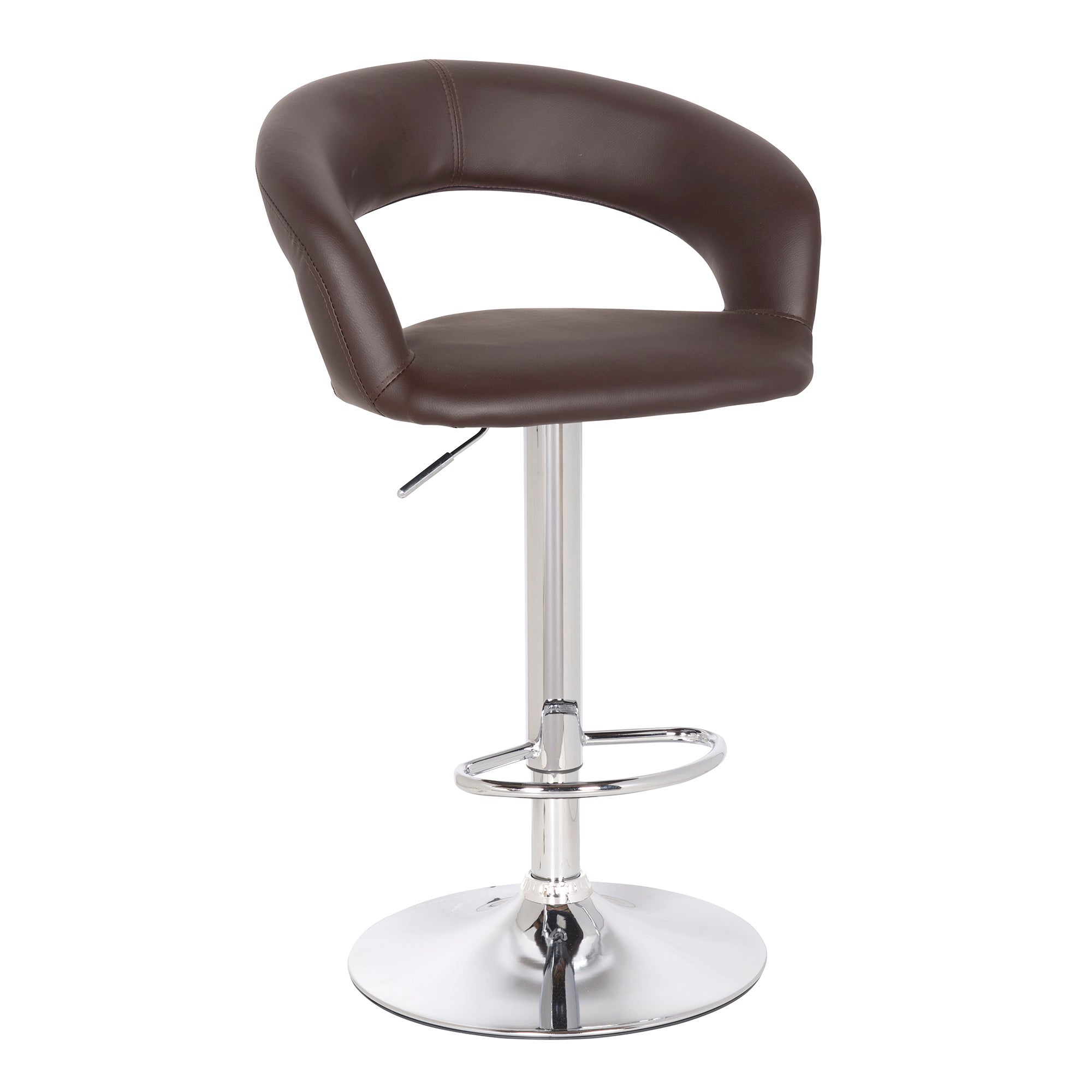 Lunar Modern Upholstered Gas Lift Bar Stool