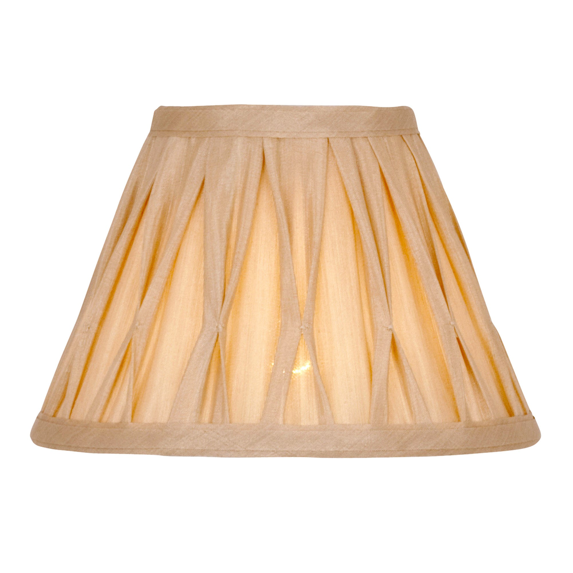 Champagne Valerie Pleat Drum Shade