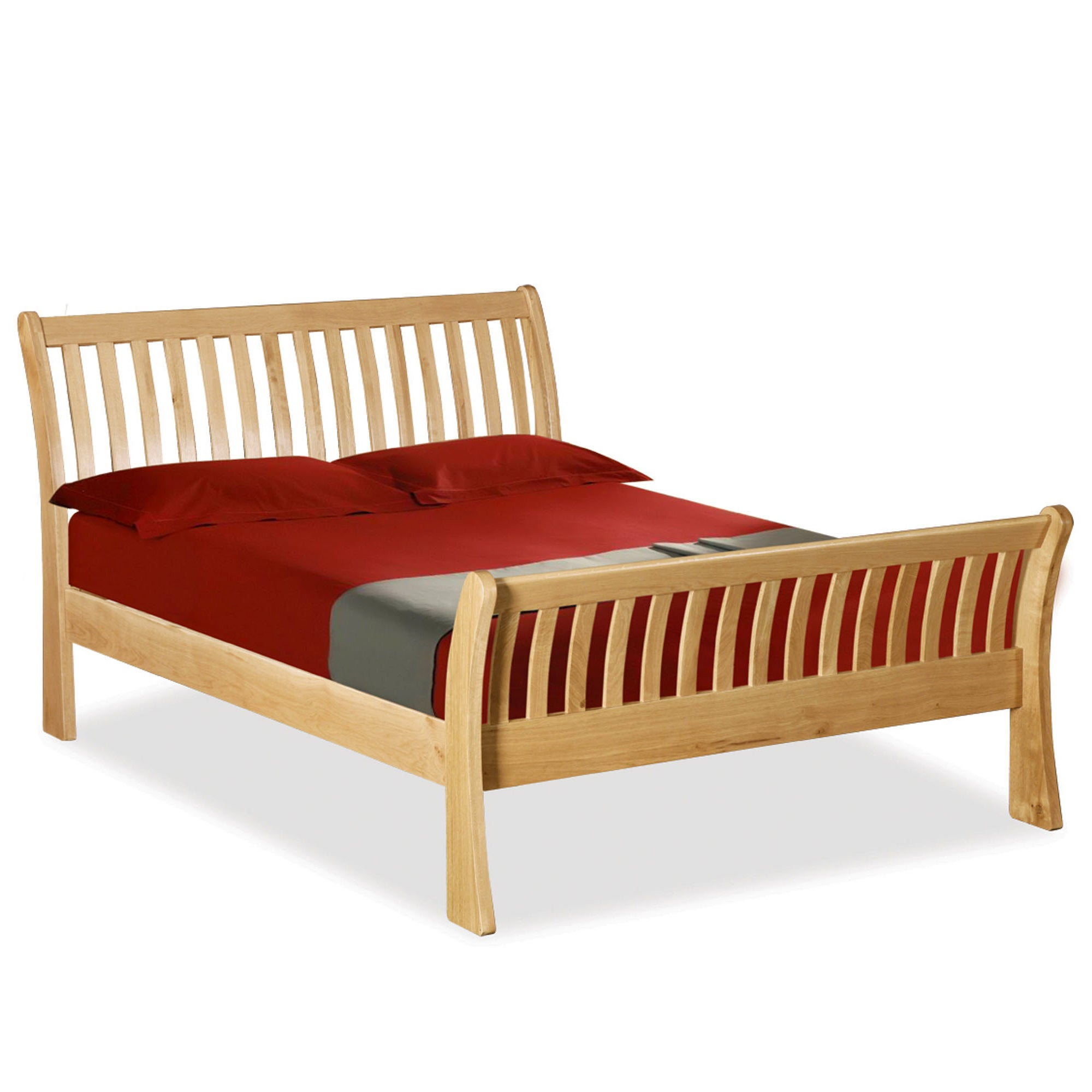 Harrogate Oak Sleigh Super King Bed