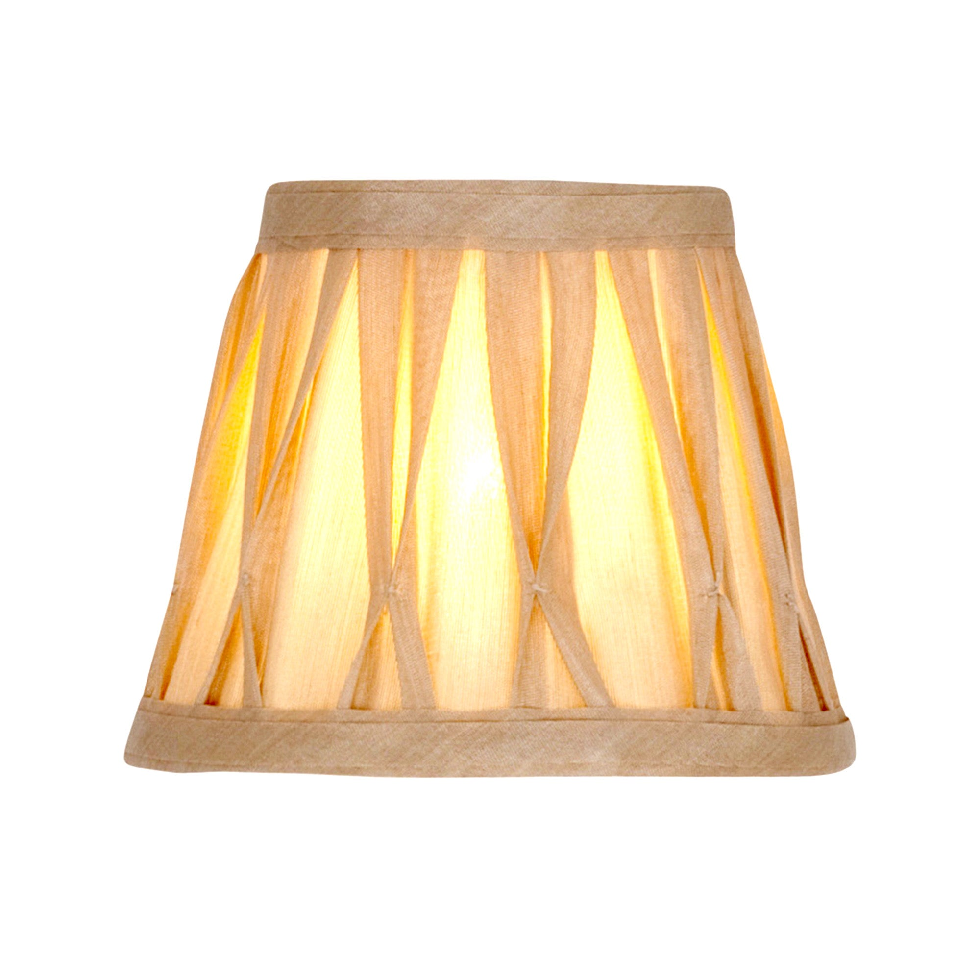 Champagne Valerie Pinch Pleat Candle Light Shade
