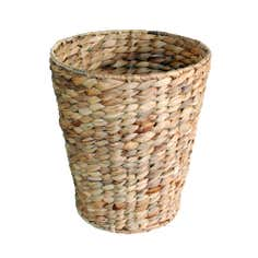 Natural Brown Water Hyacinth Waste Paper Bin