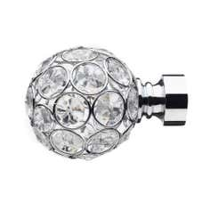 Mix and Match Collection Chrome Diamante Ball Finials