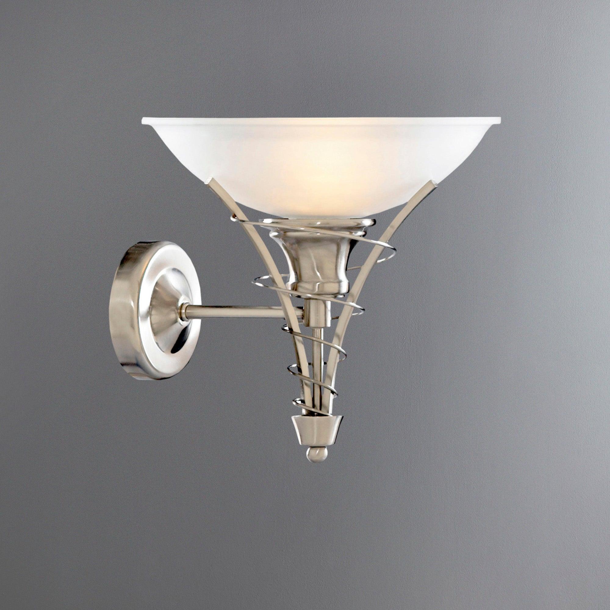 Linea Twist Satin Silver Wall Light