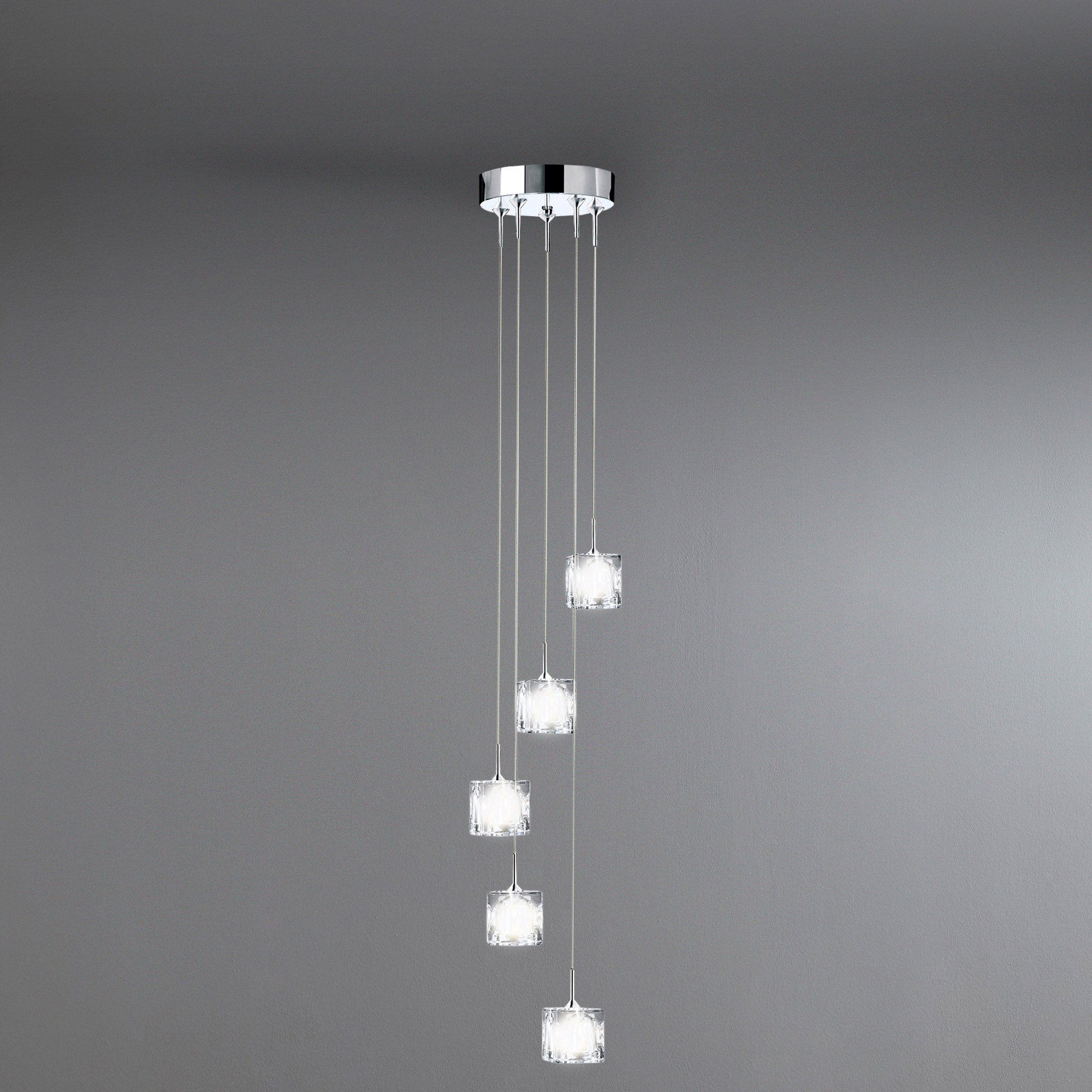 5 Light Ice Cube Ceiling Fitting