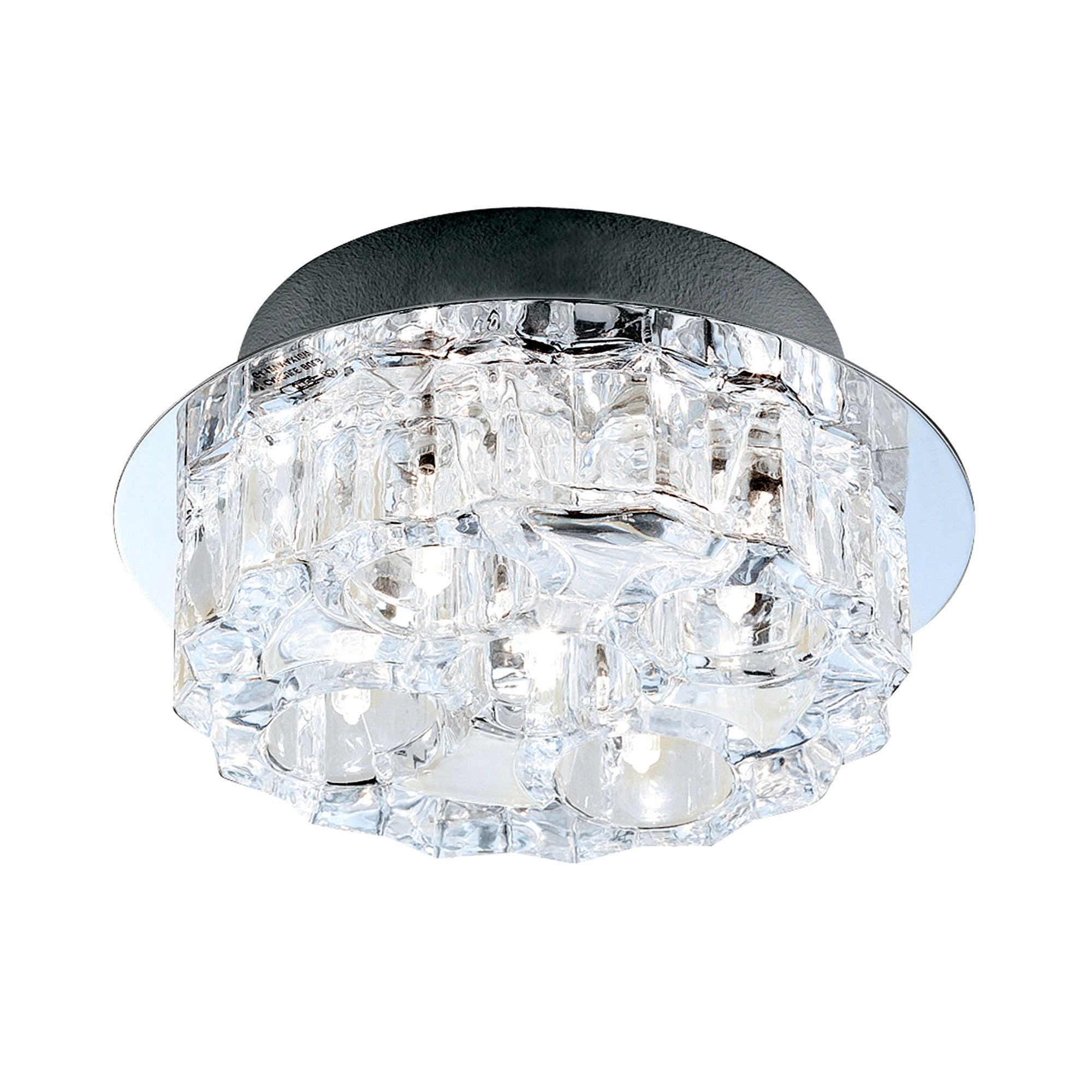 Cool Ice Compact Round Flush Light Fitting