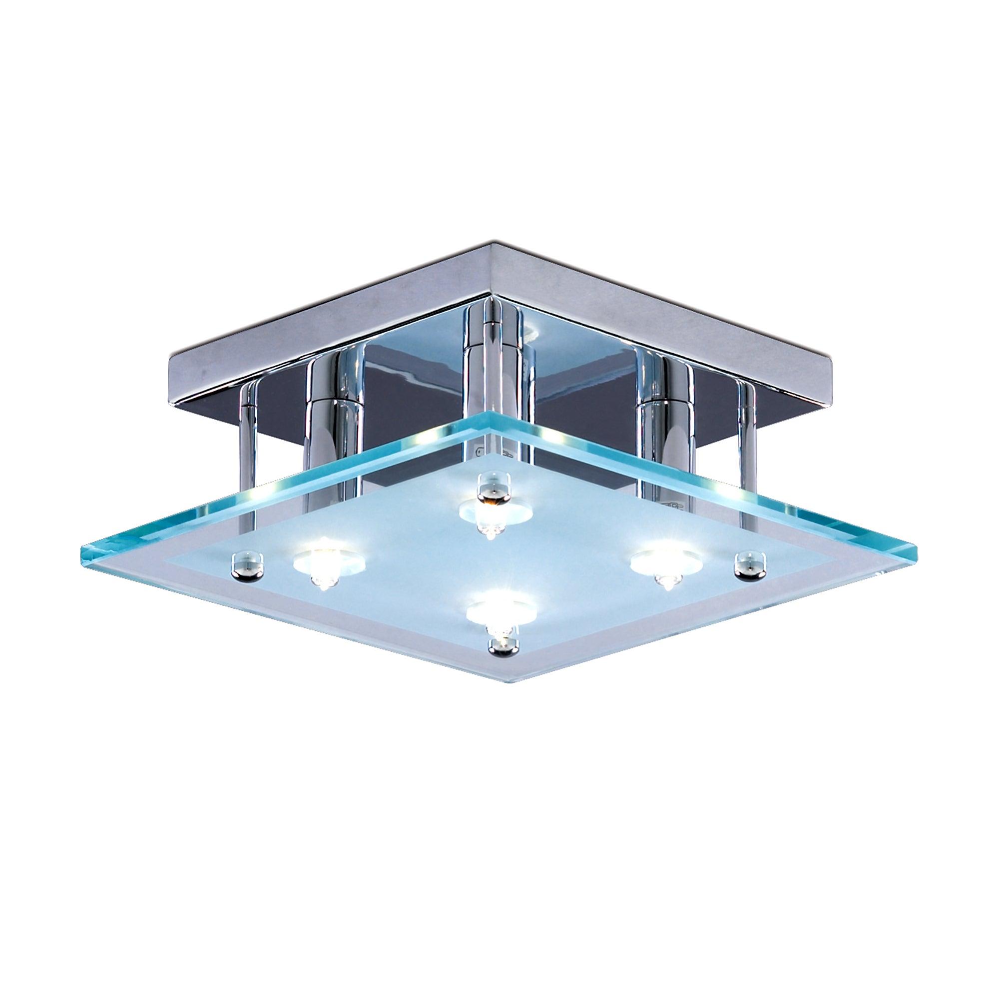 4 Light Layer Flush Light Fitting
