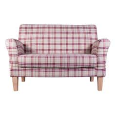 Adele Check Eden Two Seater Chair