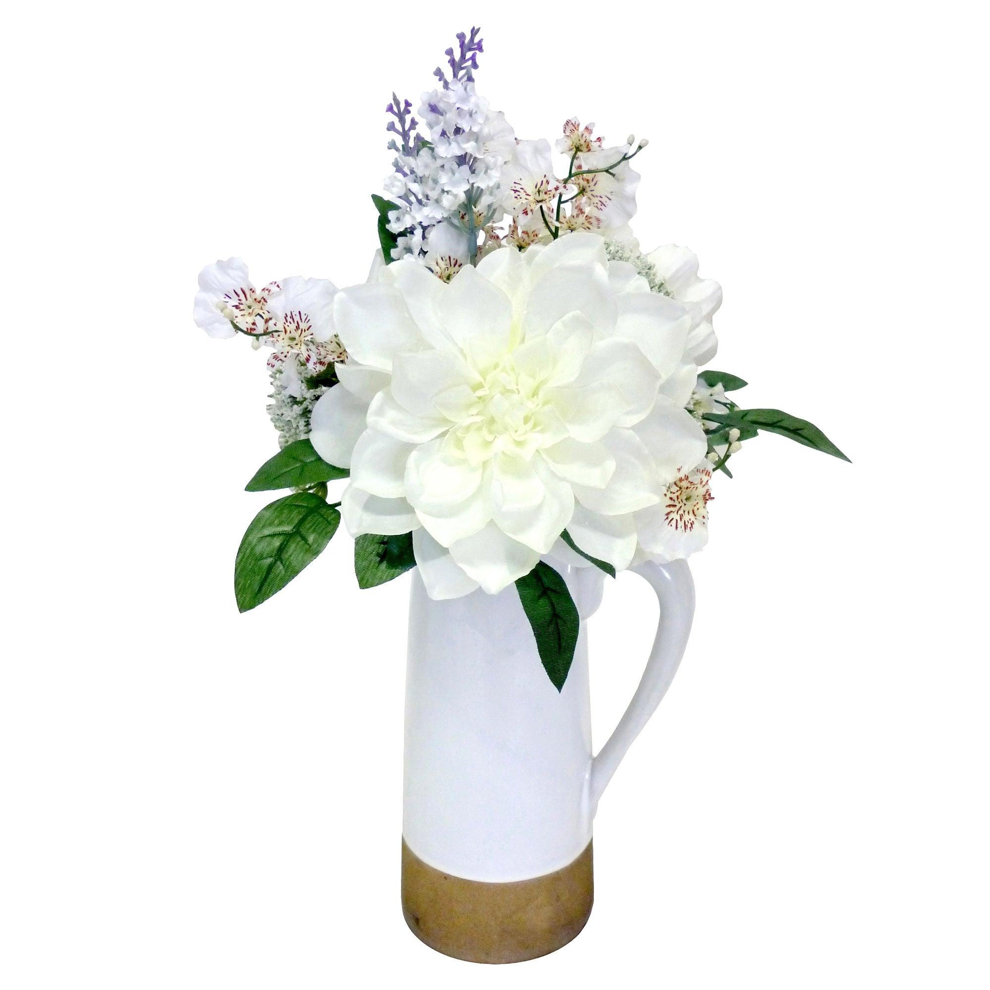 Flowers in Ceramic Jug