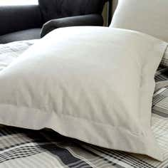 Grey Salvage Check Collection Oxford Pillowcase
