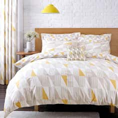 Yellow Skandi Geometric Collection Duvet Cover Set
