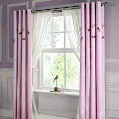 Heather Chantilly Thermal Eyelet Curtains