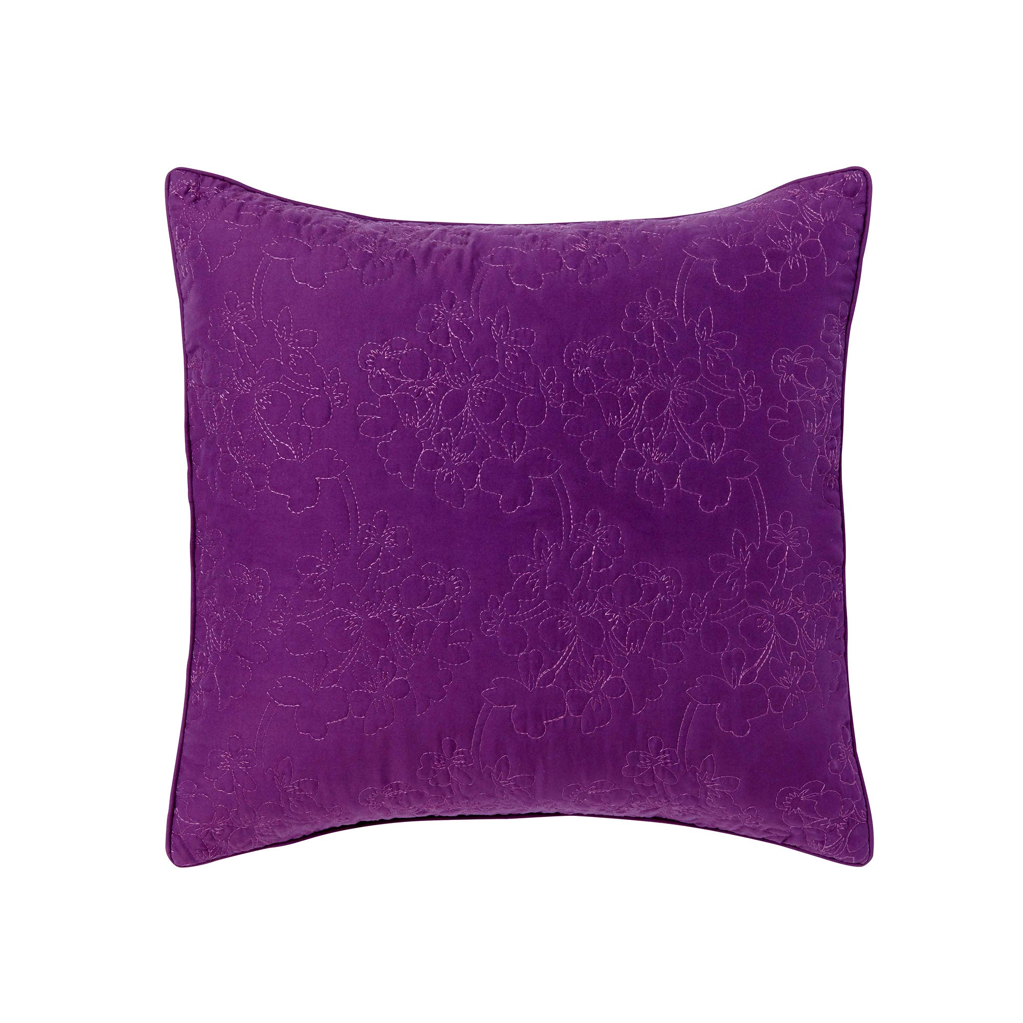 Plum Hydrangea Collection Square Cushion