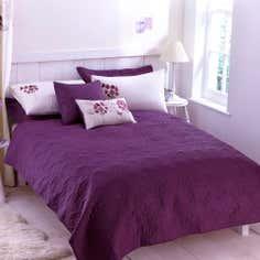 Plum Hydrangea Collection Bedspread