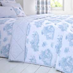 Blue Toile de Jouy Collection Bedspread