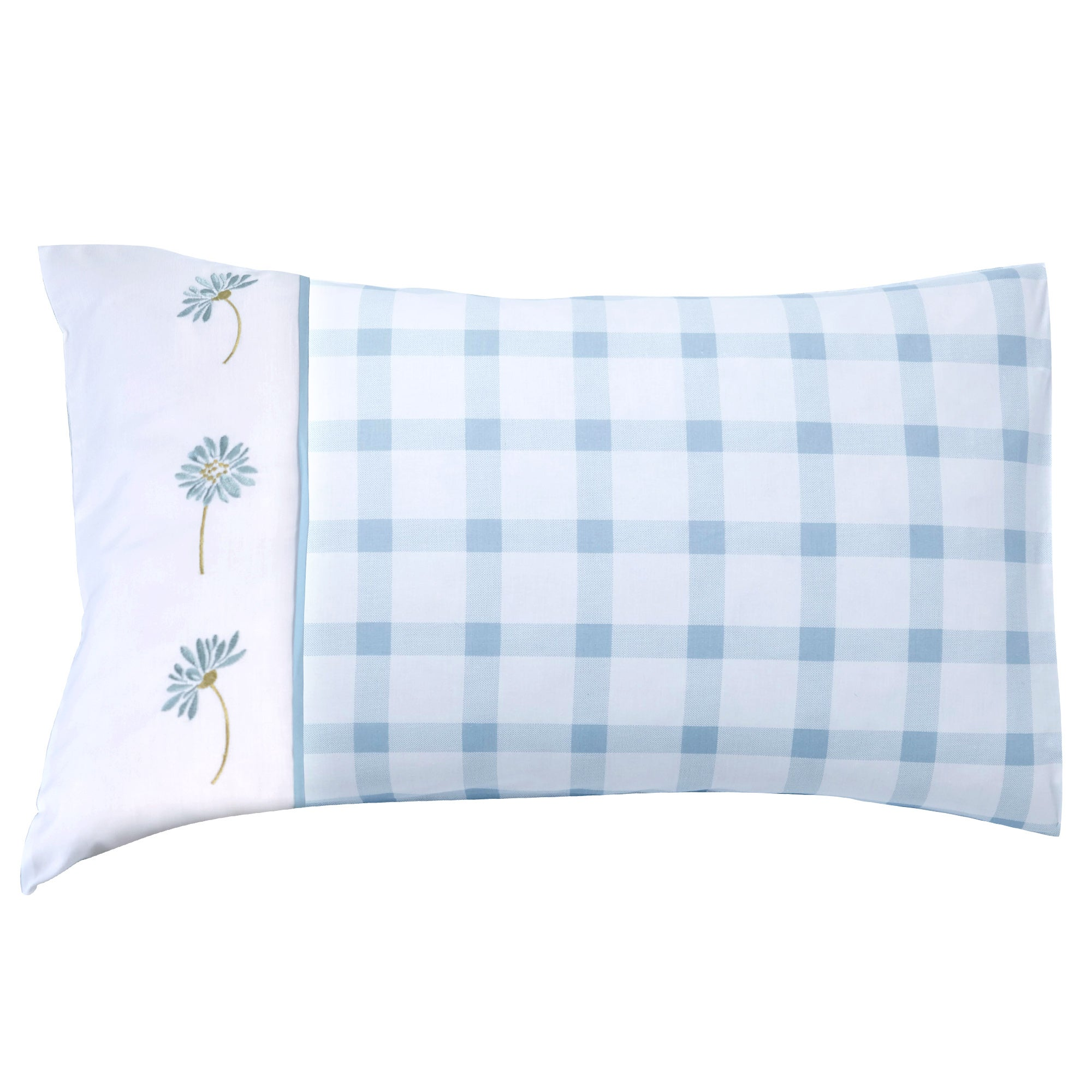Duck Egg Daisy Collection Housewife Pillowcase