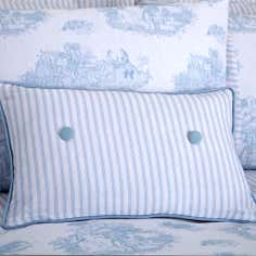Blue Toile de Jouy Collection Boudoir Cushion