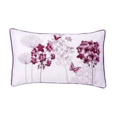 Plum Hydrangea Collection Boudoir Cushion