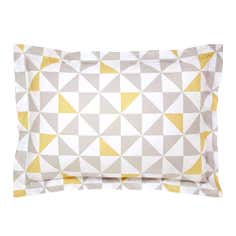 Yellow Skandi Geometric Collection Oxford Pillowcase