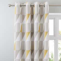 Yellow Skandi Thermal Eyelet Curtains