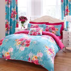 Teal Esme Collection Duvet Cover Set
