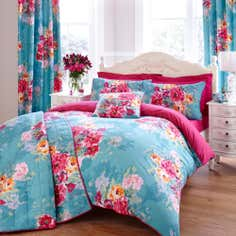 Teal Esme Collection Bedspread