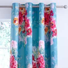 Teal Esme Thermal Eyelet Curtains
